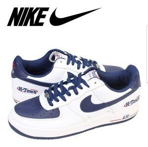 BLUE & WHITE H-Town Air Force 1, NIKE shoes Sz. 15